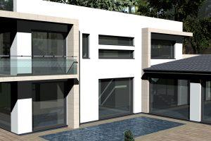 Látványterv családi ház 3 c
